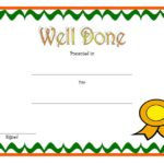 Well Done Certificate Template: 8+ Incredibly Designs