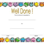Well Done Certificate Template 3