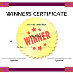 Winner Certificate Template 4