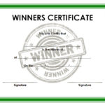 Winner Certificate Template 7