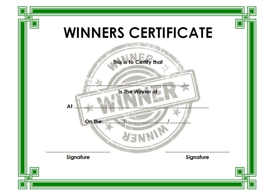 winner certificate template, contest winner certificate template, grand prize winner certificate template, weight loss challenge winner certificate template, baby shower winner certificate template, essay contest winner certificate template, halloween contest winner certificate template, tournament winner certificate template