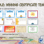 Winner Certificate Template By Paddle