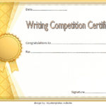 Writing Competition Certificate Template 1