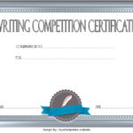 Writing Competition Certificate Template 2