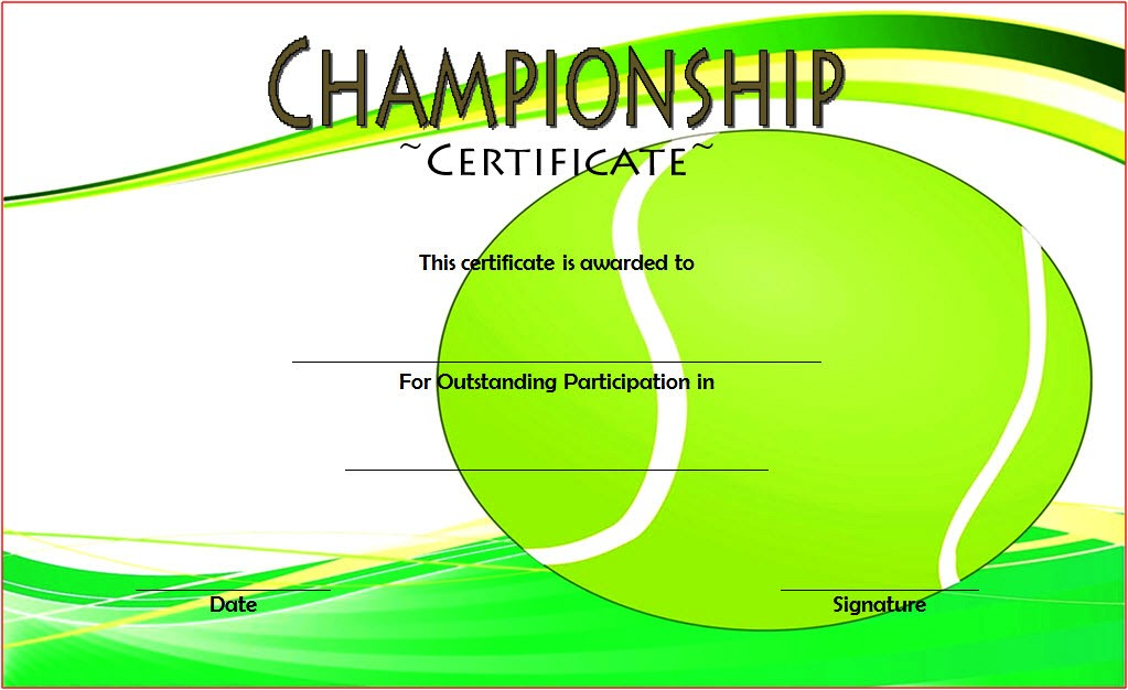 Championship Certificate 2