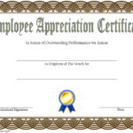 Employee Appreciation Certificate Template 1