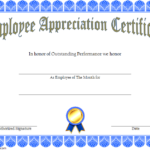 Employee Appreciation Certificate Template 2