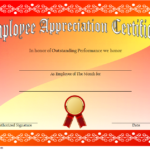 Employee Appreciation Certificate Template 3