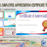 Employee Appreciation Certificate Template By Paddle