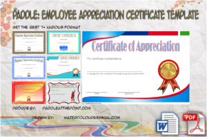 Employee Appreciation Certificate Template: 7+ Best Designs