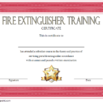 Fire Extinguisher Training Certificate – 7+ Latest Designs