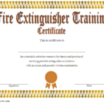 Fire Extinguisher Certificate Template 2