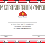 Fire Extinguisher Certificate Template 3