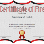 Fire Extinguisher Certificate Template 5