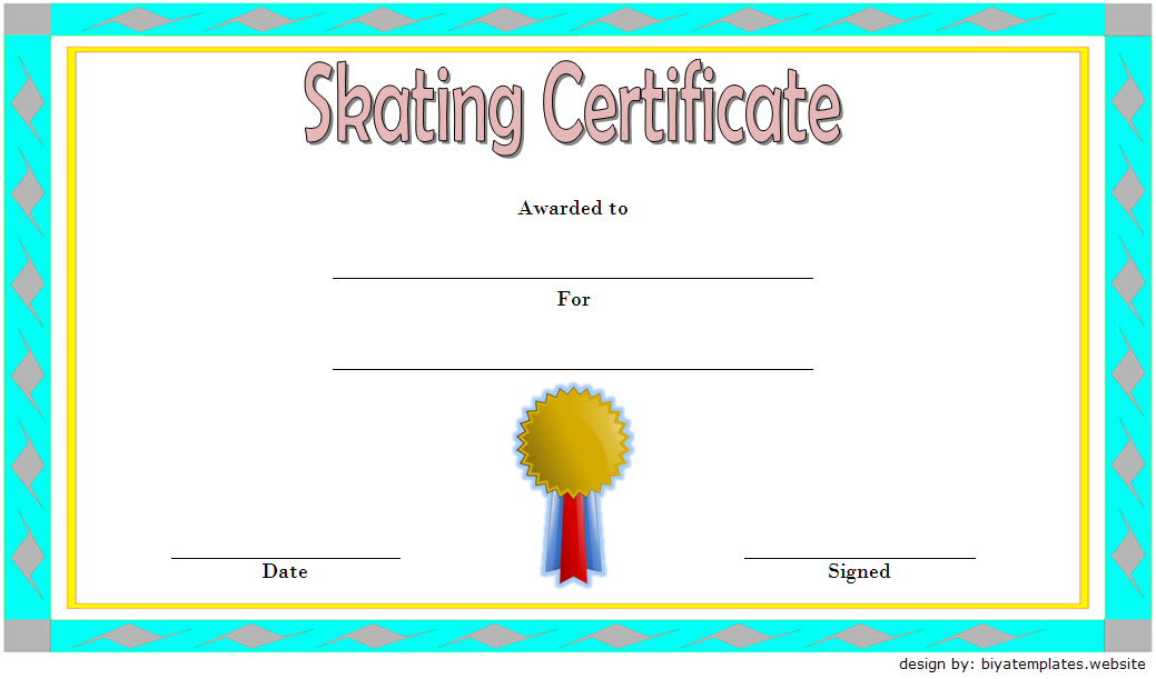 Ice Skating Certificate Template 5