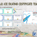 Ice Skating Certificate Template By Paddle