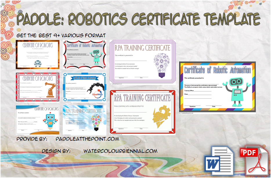 Robotics Certificate Template By Paddle