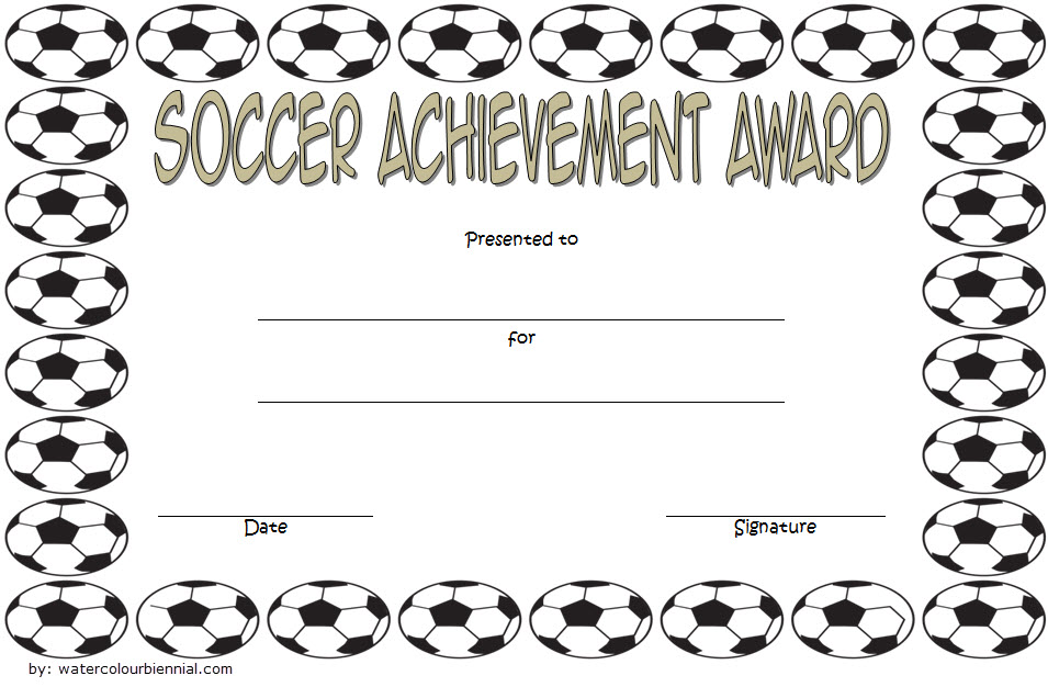 photograph regarding Printable Soccer Certificates identify Football Achievements Certification Template 3 Paddle At The Simple fact
