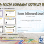 Soccer Achievement Certificate Template By Paddle