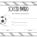 Soccer Award Certificate Template 2