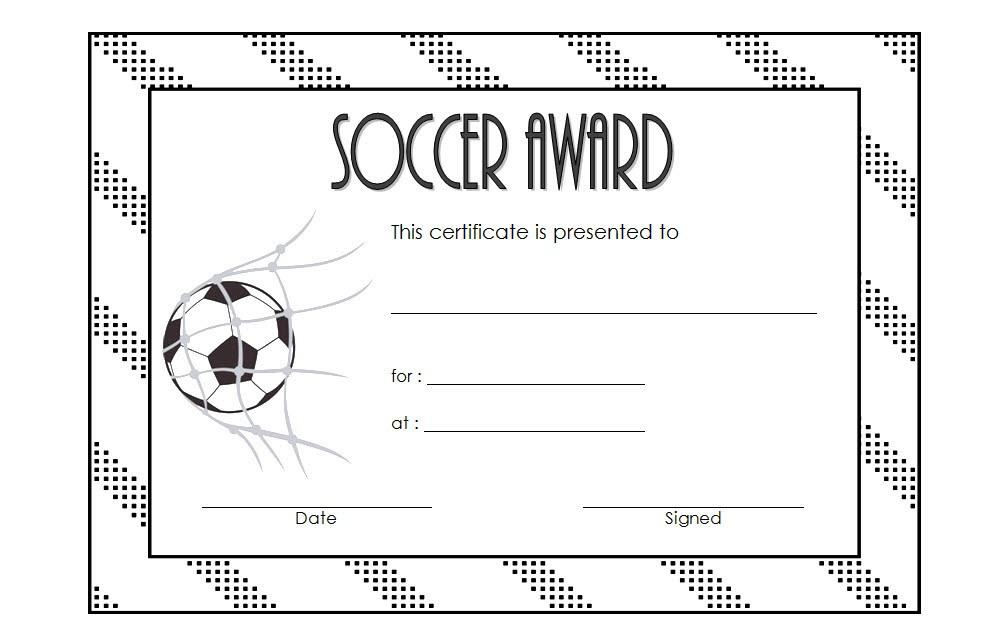 photograph regarding Printable Soccer Certificate identify Football Award Certification Template 2 Paddle At The Level