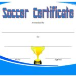Soccer Award Certificate Template 3