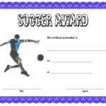 Soccer Award Certificate Template 6