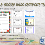 Soccer Award Certificate Template By Paddle
