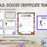 Soccer Certificate Template By Paddle