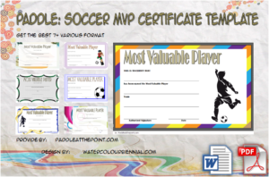 Soccer MVP Certificate Template – 7+ Player Awards Free