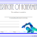 Swimming Achievement Certificate Template 1
