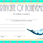 Swimming Achievement Certificate Template 2