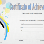 Swimming Achievement Certificate Template 4