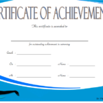 Swimming Achievement Certificate Template 5