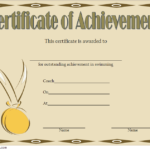 Swimming Achievement Certificate Template 6