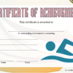 Swimming Achievement Certificate Template 7