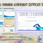 Swimming Achievement Certificate Template By Paddle