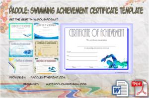 Swimming Achievement Certificate Free Printable: 7+ Ideas
