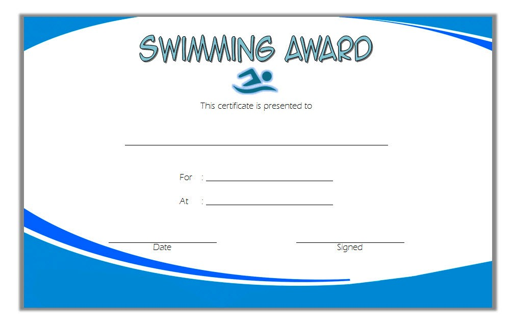 Swimming Certificate Template 6