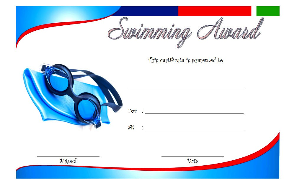 Swimming Certificate Template 9