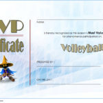 Volleyball Award Certificate Template Free 3