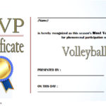 Volleyball Award Certificate Template Free 4