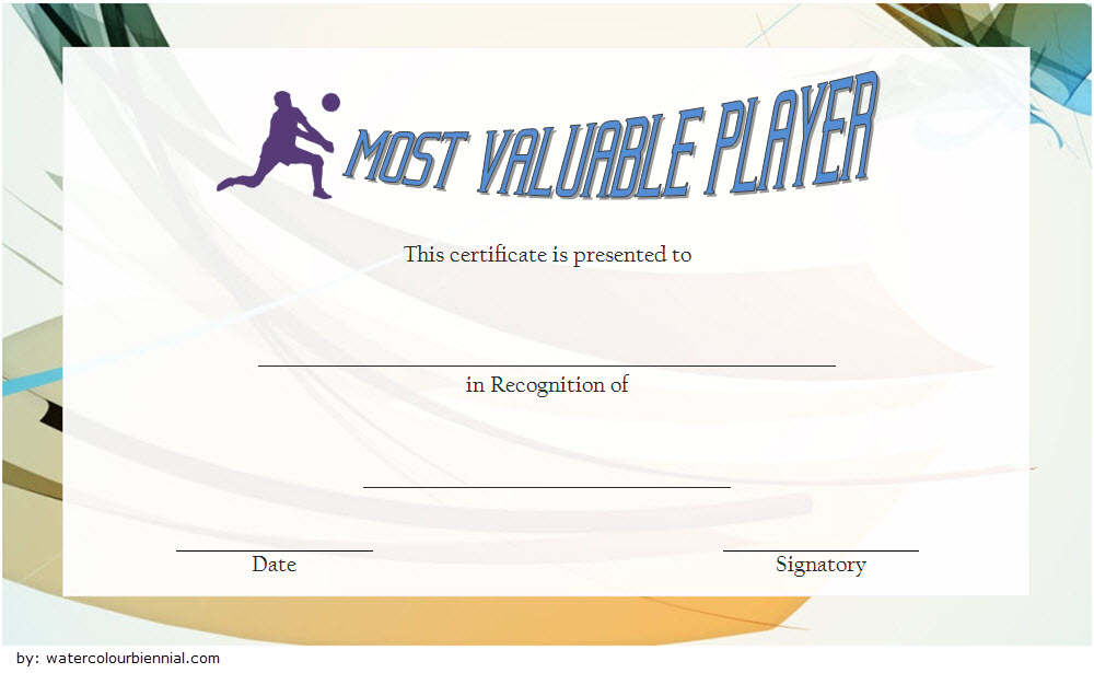 Volleyball Award Certificate Template Free 7