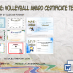 Volleyball Award Certificate Template Free By Paddle