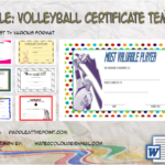 Volleyball Certificate Template By Paddle