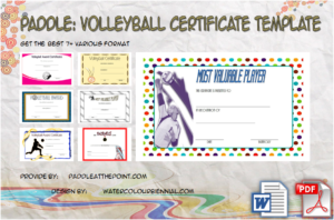 Volleyball Certificate Template Free – 7+ Best Design Ideas