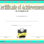 Weight Loss Certificate Template 1