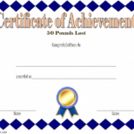 Weight Loss Certificate Template 3