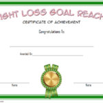 Weight Loss Certificate Template 4