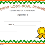 Weight Loss Certificate Template 5